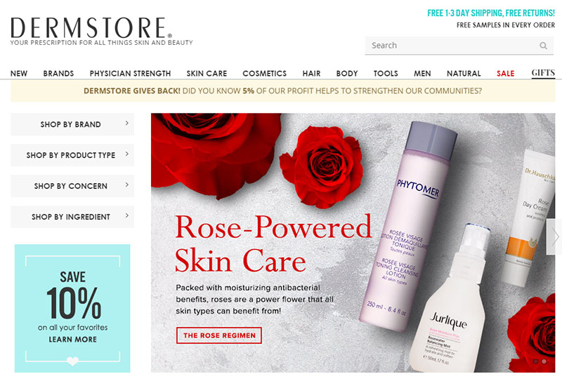 The Ideal Beauty Products at Dermstore.com