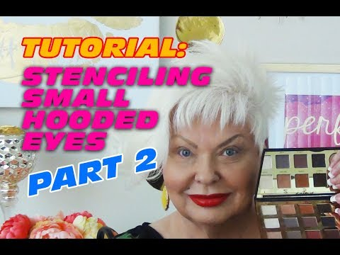 Small Hooded Eyes Stenciling Tutorial Part 2