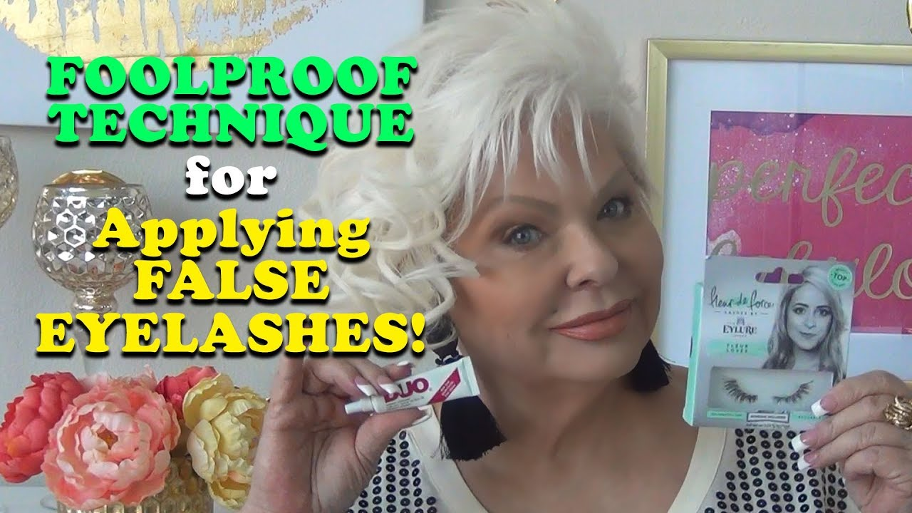 Foolproof Technique to Apply False Eyelashes!
